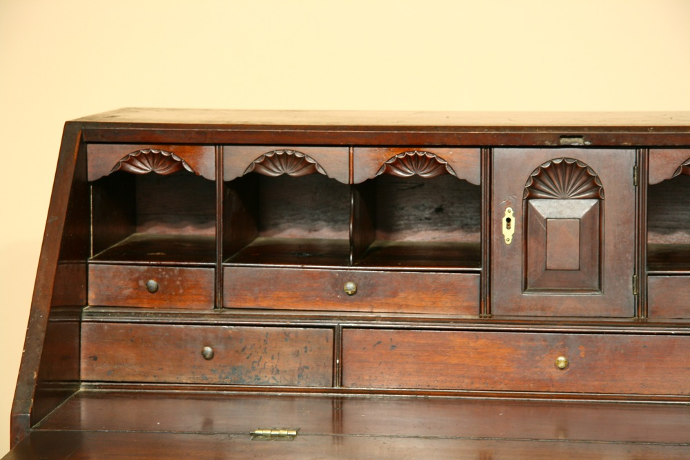 Chippendale 'ox-bow' desk