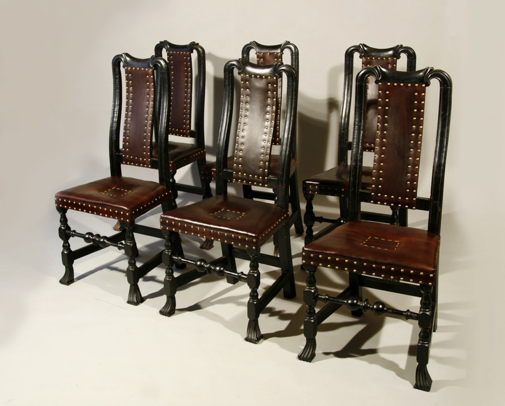Antique Queen Anne  leather  chairsSold   Peter H  Eaton Antiques. Antique Queen Anne Upholstered Chairs. Home Design Ideas