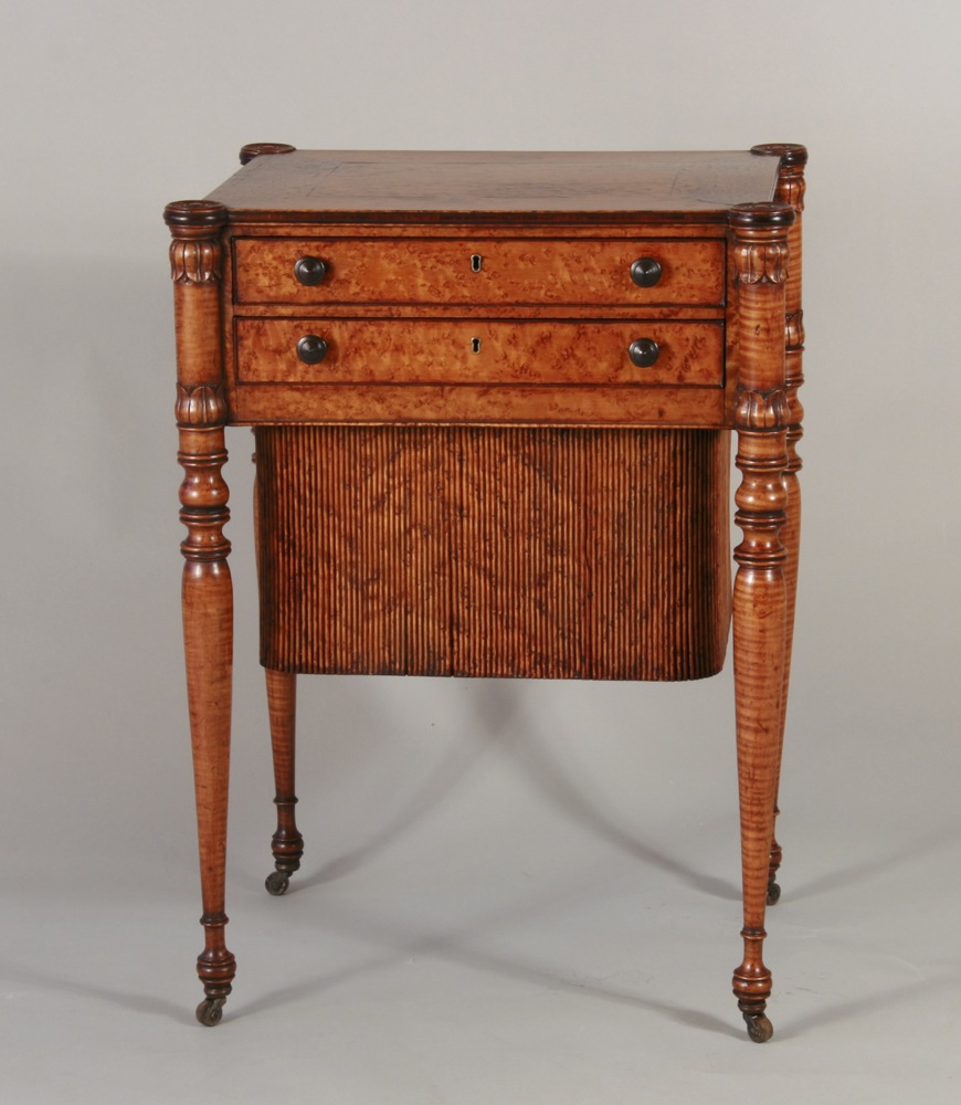 antique Boston sewing stand - Sold - Peter H. Eaton Antiques