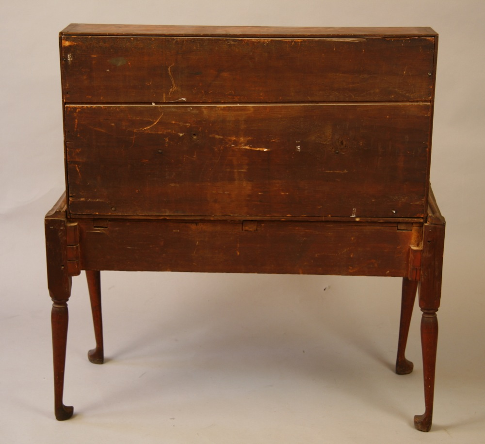 antique Queen Anne desk on frame