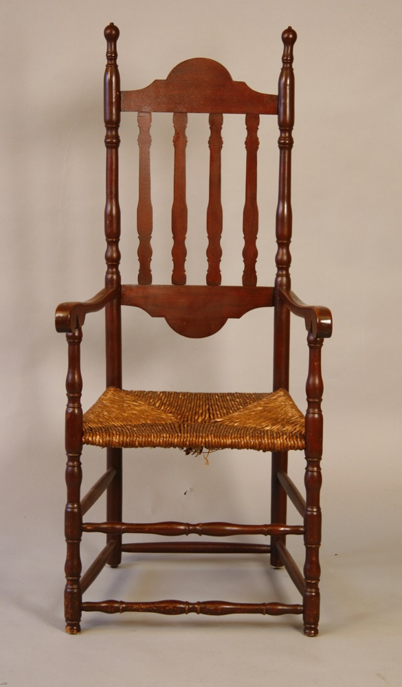 antique bannister-backed armchair