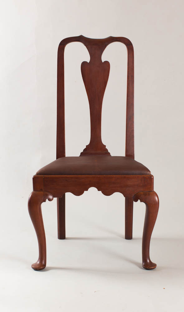 A rare country Queen Anne sidechair from eastern CT