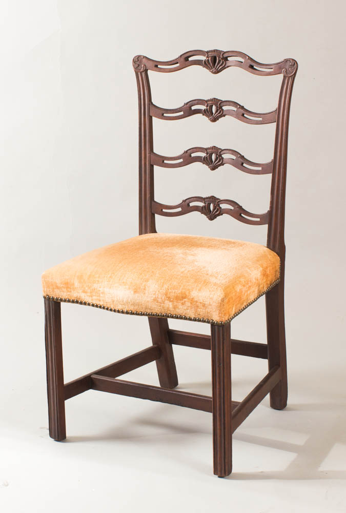 A fine Chippendale 'ribbon-back' sidechair