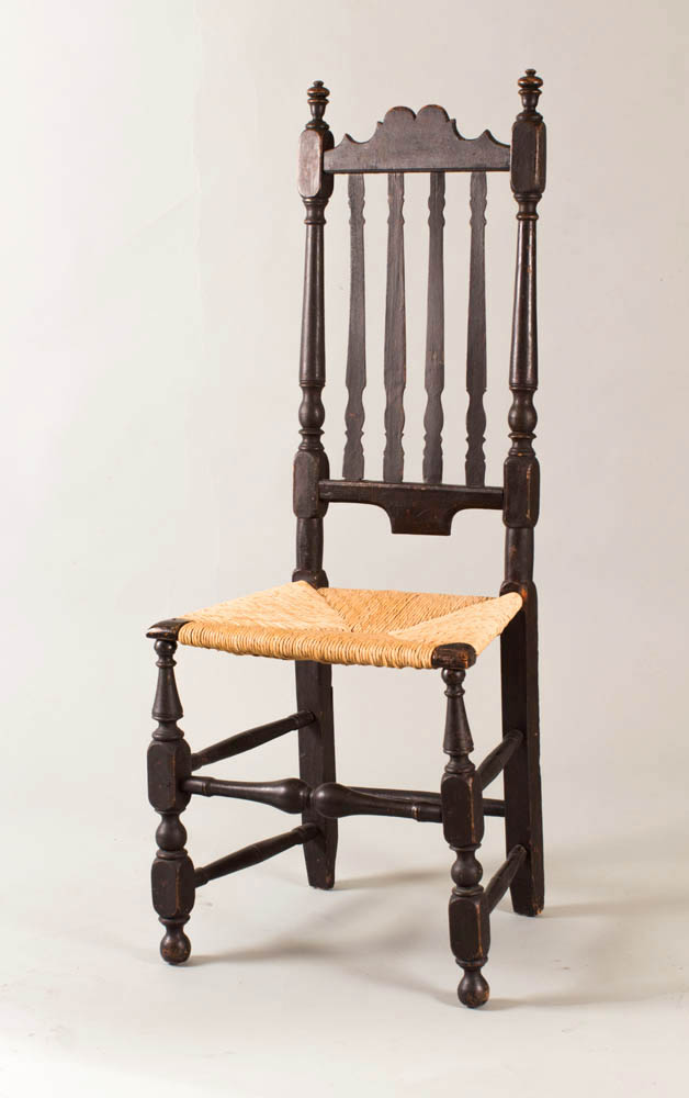 A William and Mary banister back sidechair