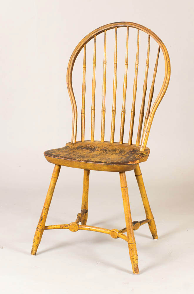 A rare set of six bowback windsor chairs