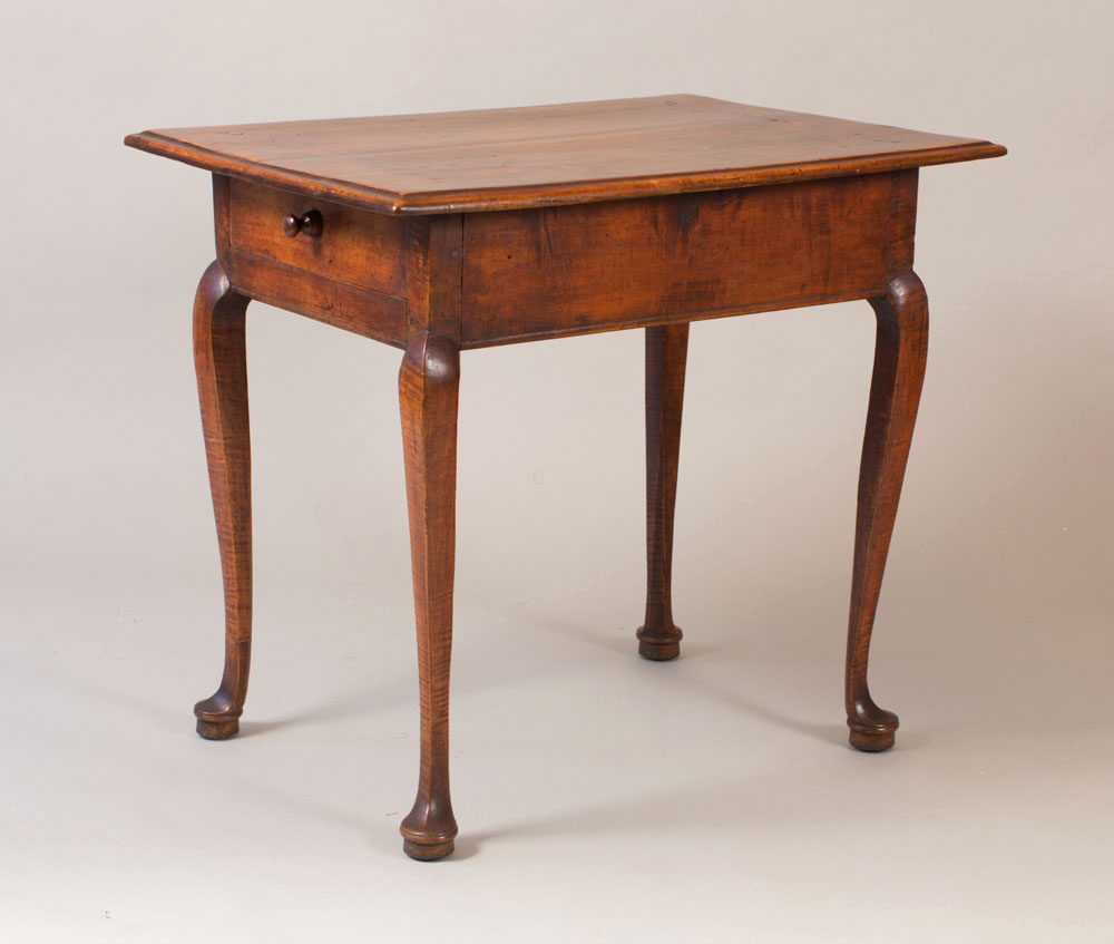 A fine and rare country Queen Anne tea table