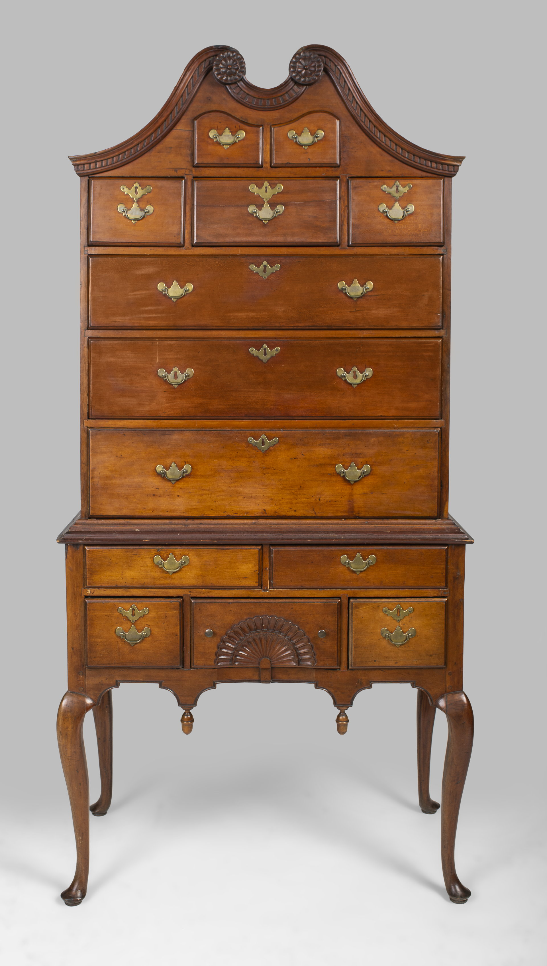 A fine country Queen Anne high chest